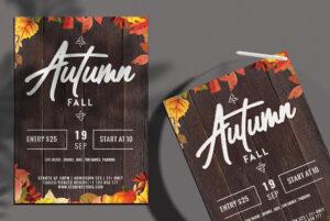 Autumn Fall Free PSD Flyer Template