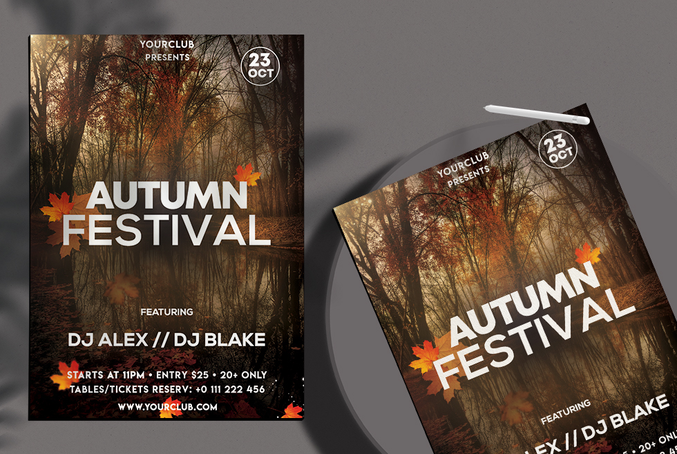 Autumn Festival Free PSD Flyer Template