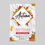 Autumn Festival PSD Free Flyer Template