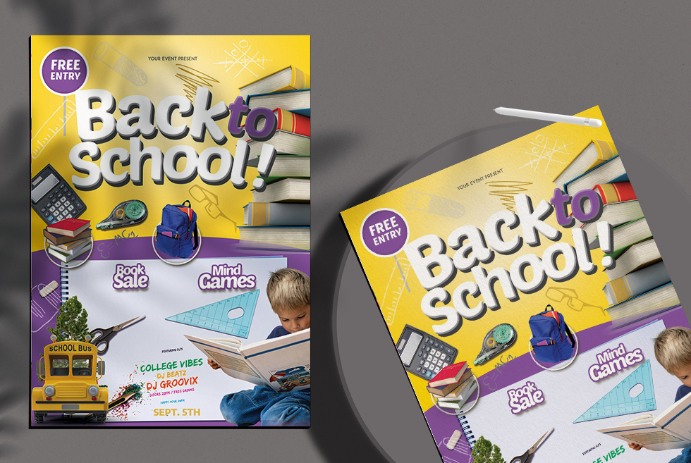 Back To School Kids Free PSD Flyer