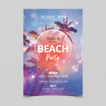 Beach Party Free PSD Flyer Template