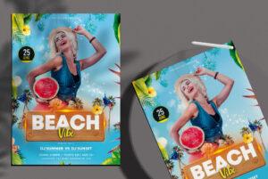 Beach Vibe Free PSD Flyer Template