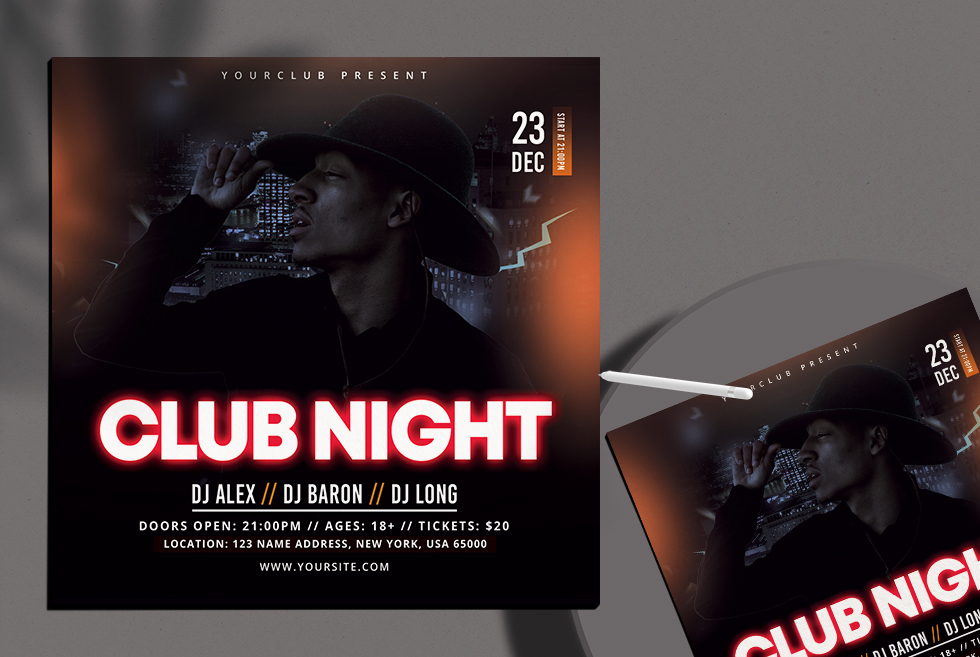 Club Night Free PSD Flyer Templates