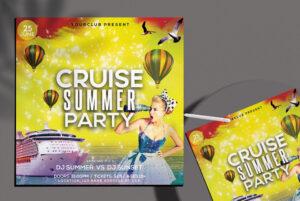 Cruise Summer Free PSD Flyer Template
