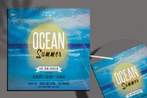 Free Ocean Summer PSD Flyer Template