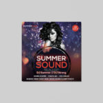 Free Summer Sound Insta Post PSD Flyer Template