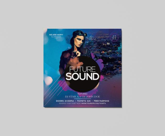 Future Sound Free PSD Flyer