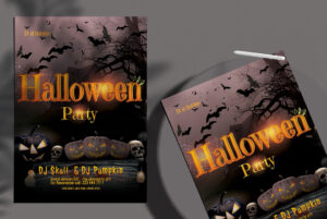 Halloween Party Free PSD Flyer Template