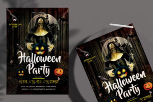 Halloween Party PSD Flyer Free Template