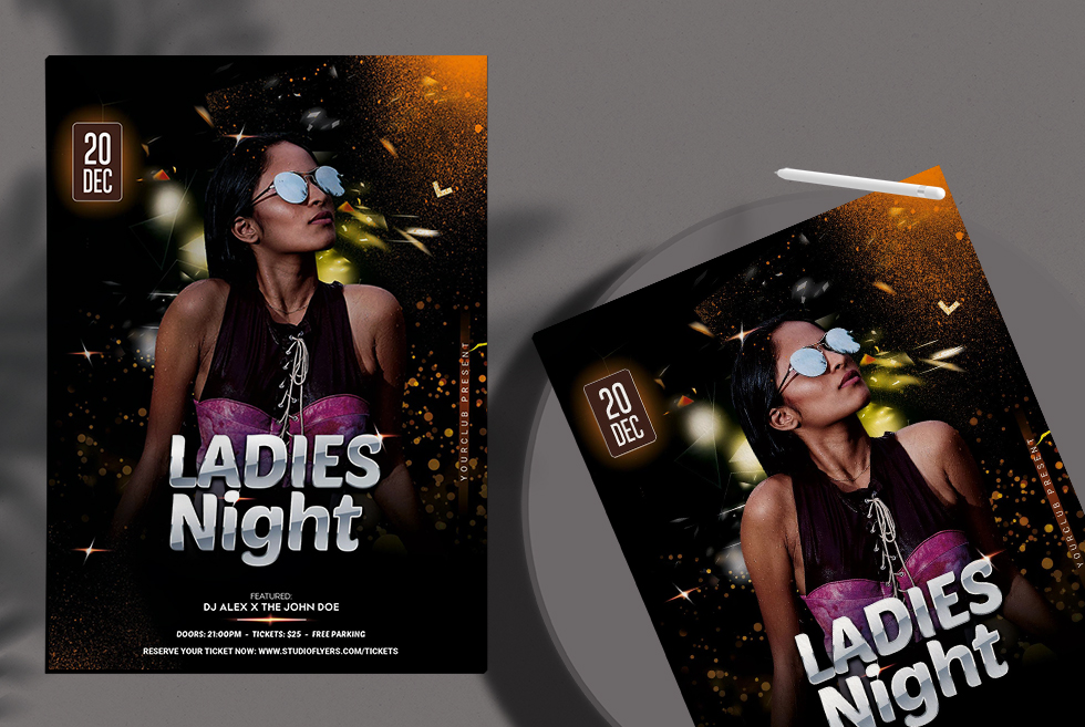 Ladies Night Event Free PSD Flyer Templates