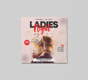 Ladies Night PSD Free Flyer Templates