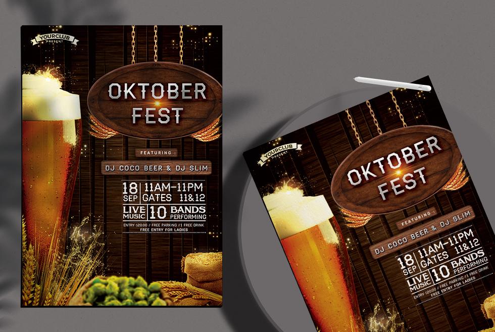 Oktoberfest Free Psd Flyer Template
