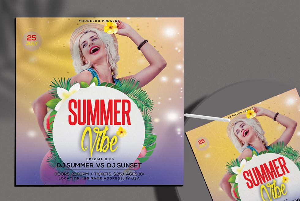 Summer Free PSD Insta Template