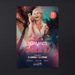 Summer Sound Free PSD Flyer Template