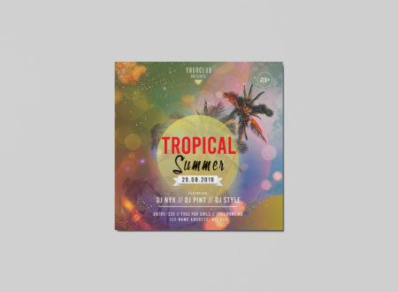 Beach Party Free PSD Flyer Template - StudioFlyers com