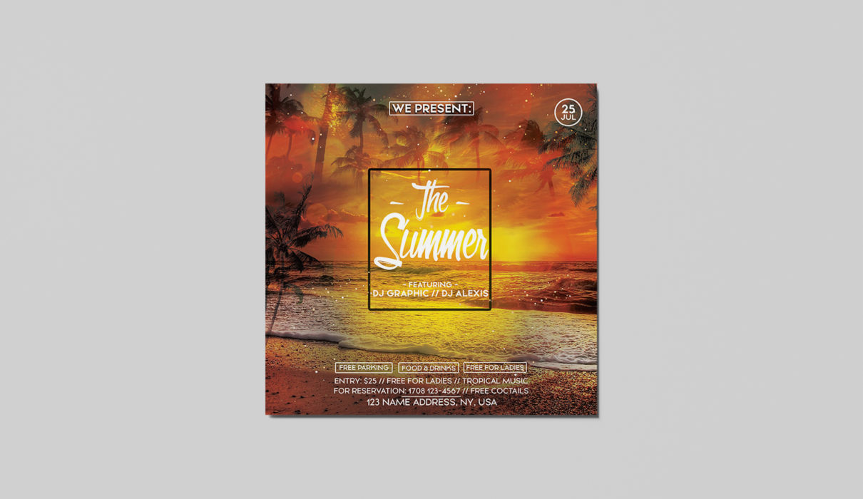The Summer Free PSD Flyer Template