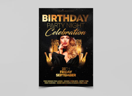 Birthday Party Night Free PSD Flyer Template