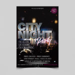 City Night Club Party Free PSD Flyer Template