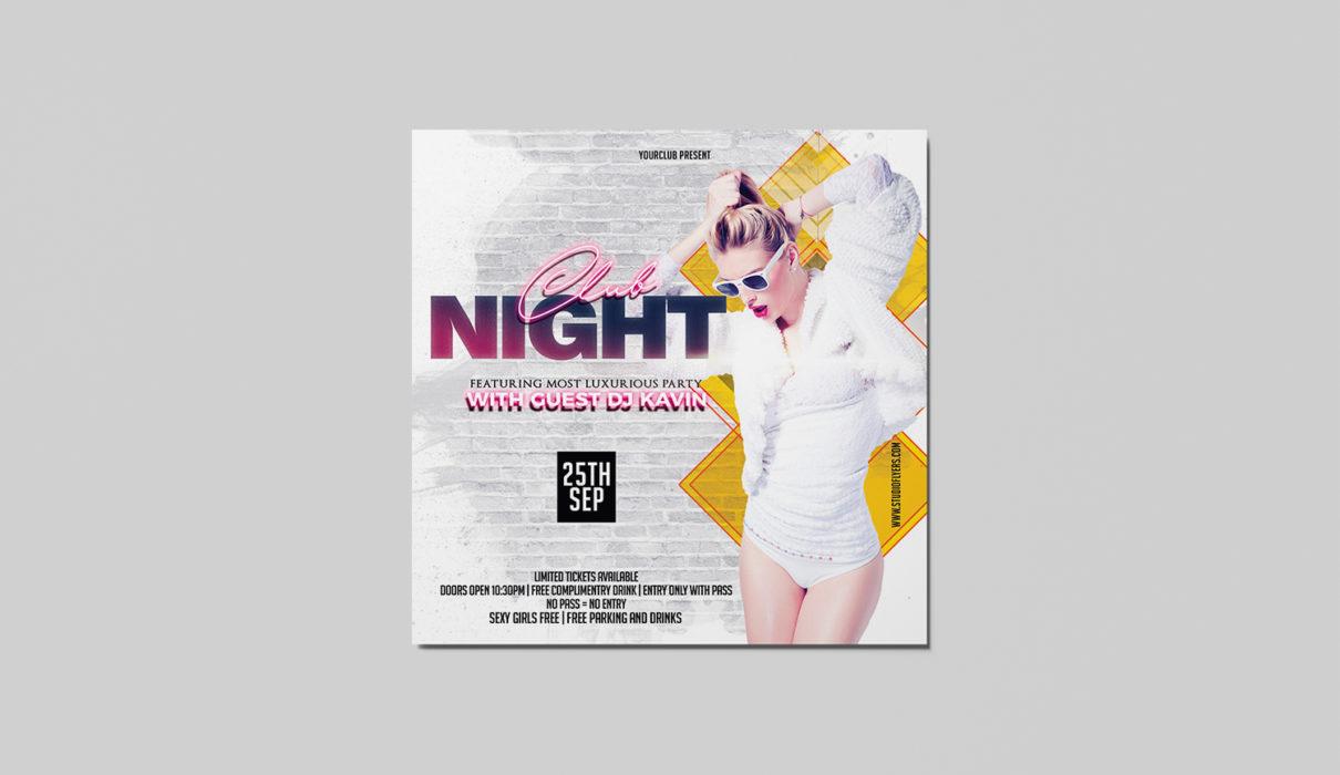 Club Night Freebie PSD Flyer Template