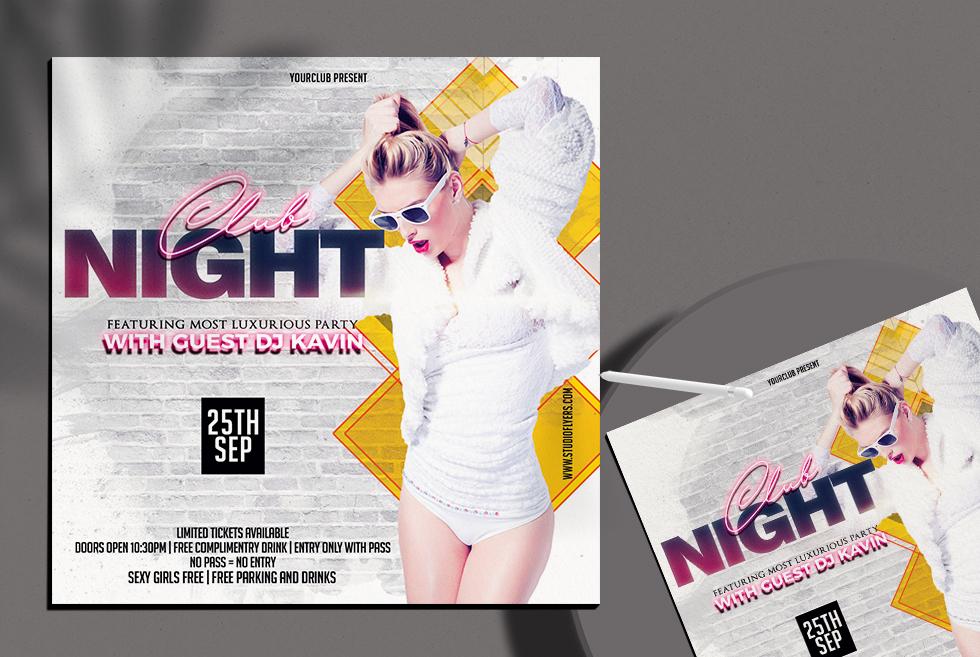 Club Night Freebie PSD Flyer Templates