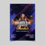 Concert Night Party Free PSD Flyer Template