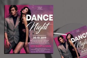 Dance Night Free PSD Flyer Template