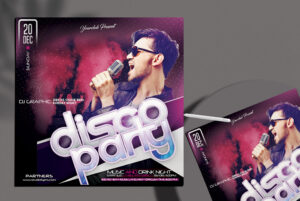 Disco Party Free PSD Flyer Template