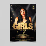 Elegant Girls Night Party Free PSD Flyer Template