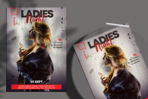 Event Ladies Night Party PSD Free Flyer Template