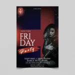 Friday Girls Night Free PSD Flyer Template