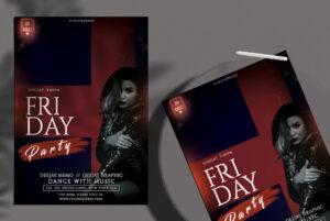 Friday Girls Night Free PSD Flyer Template