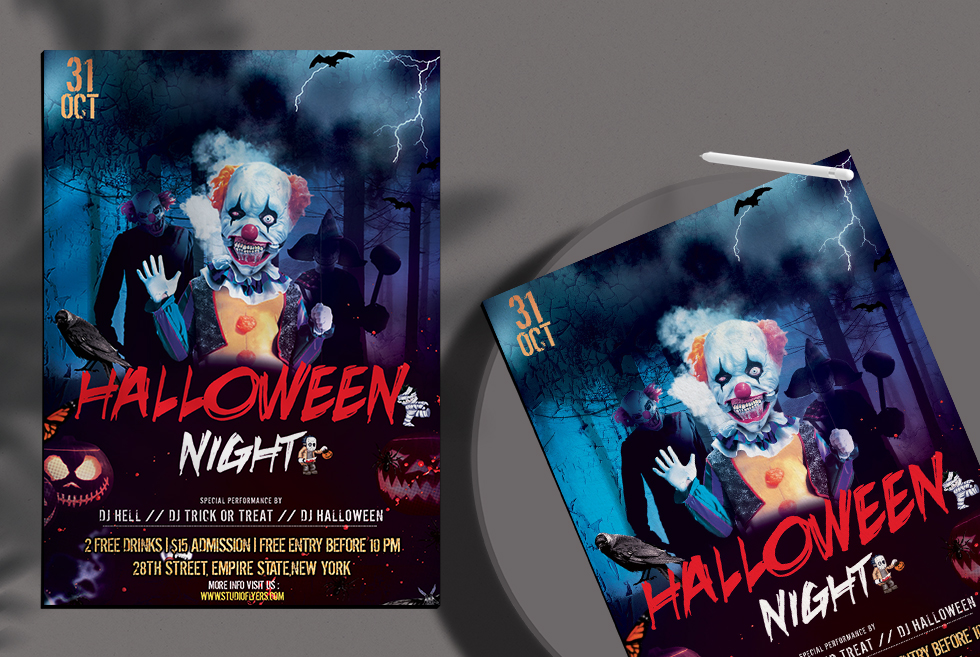 Halloween Nightmare Free PSD Flyer Template