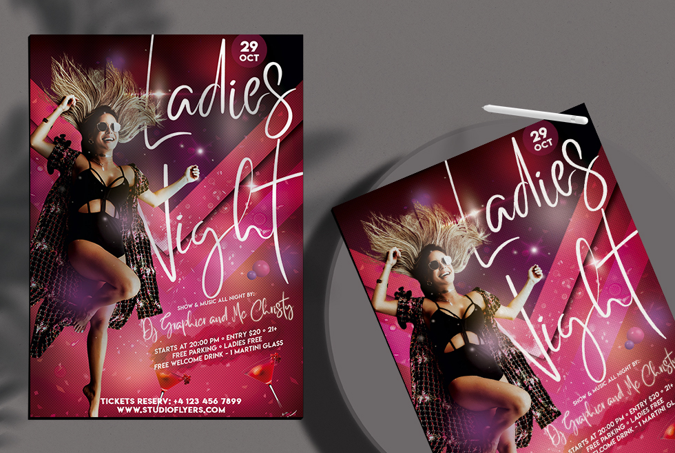 Ladies Dance Night Free PSD Flyer Template