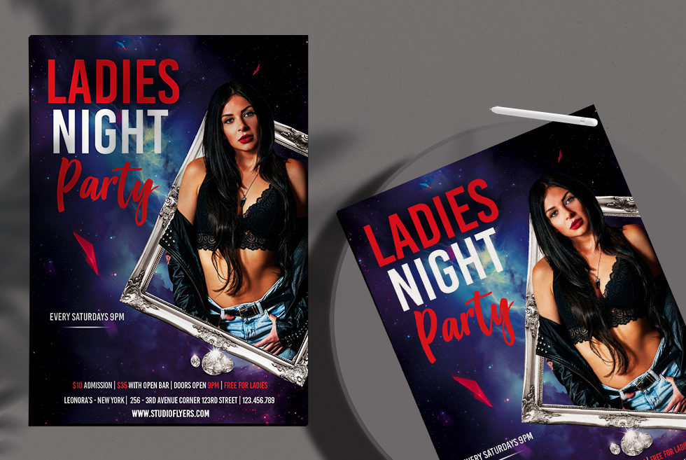 Ladies Event Party Club Free PSD Flyer Template