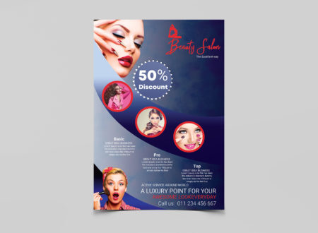 Makeup Beauty Salon Free PSD Flyer Template