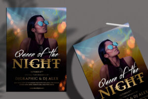 Queen Of The Night Free PSD Flyer Template