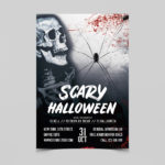 Scary Halloween Free PSD Flyer Template