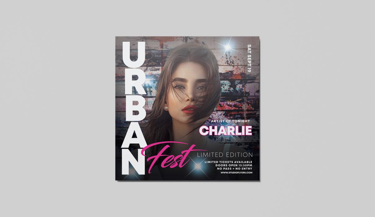 Urban Fest Free PSD Flyer Template