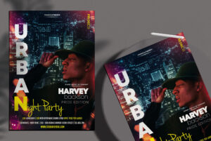 Urban Night Party Free PSD Flyer Template