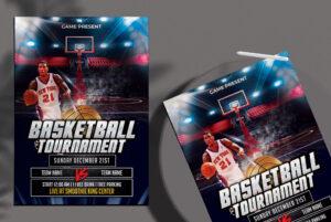 Basketball Tournament Free PSD Flyer Template