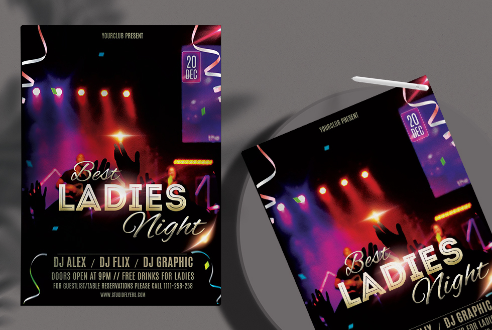 Best Ladies Night Free PSD Flyer Template