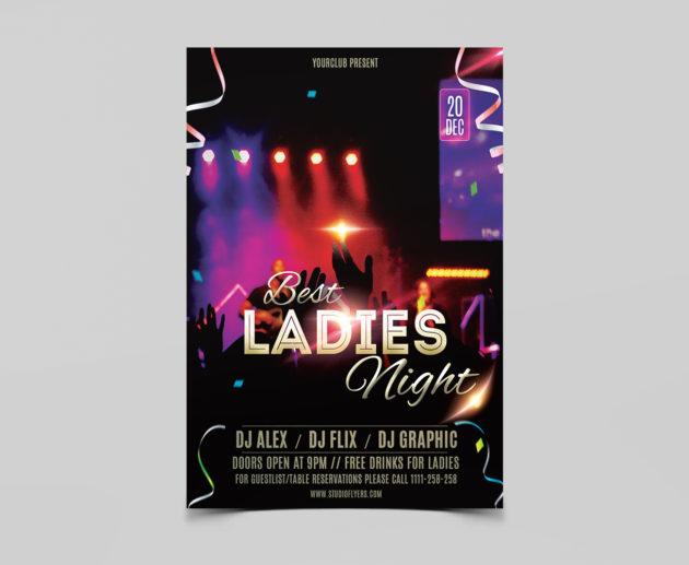 Best Ladies Night Free PSD Flyer Template