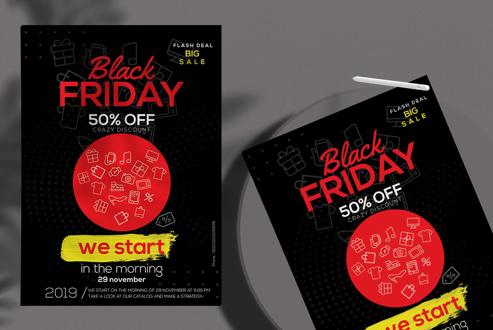 Black Friday Discount Free PSD Flyer Template