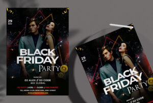 Black Friday Party Free PSD Flyer Template