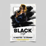 Black Night Free PSD Flyer Template