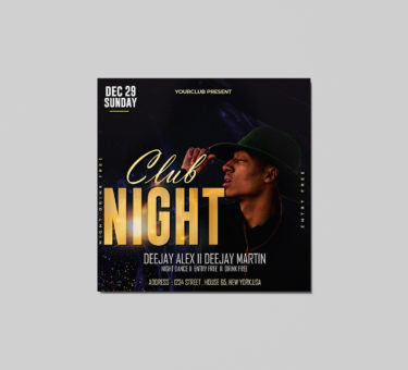 Club Night Freebie Flyer PSD Template