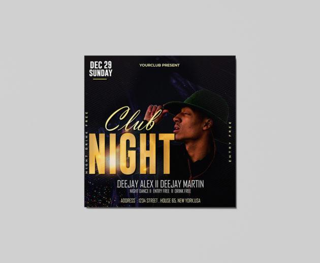 Club Night Freebie Flyer PSD Template