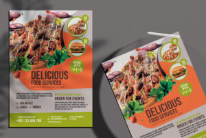 Delicious Food Free PSD Flyer Template
