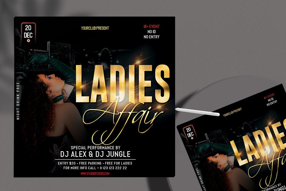 Ladies Affair Free PSD Flyer Template