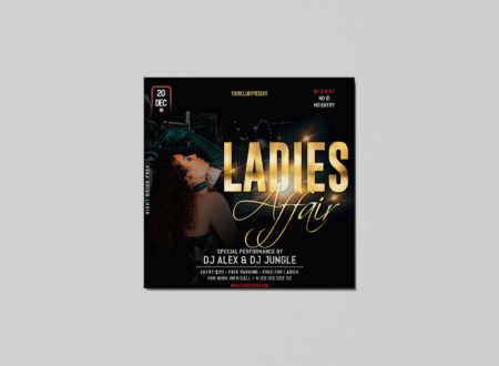 Ladies Affair Free PSD Flyer Template
